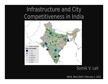 Infrastructure and City Competitiveness in India - National Institute of ...
