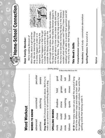 Grade 4 Unit 1 Week 5 - Treasures - Macmillan/McGraw-Hill
