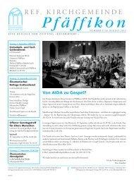 Ausgabe vom 30. August 2013 - Ref. Kirchgemeinde Pfäffikon