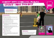 cricket - bowl them over - School Games