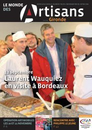 N°66 - Septembre - Octobre 2008 - Chambre de métiers et de l ...