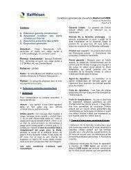 Conditions générales de couverture Mastercard WEB ... - Raiffeisen