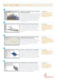 Neue Funktionen in SolidWorks 2012 - ARGE 3D-CAD
