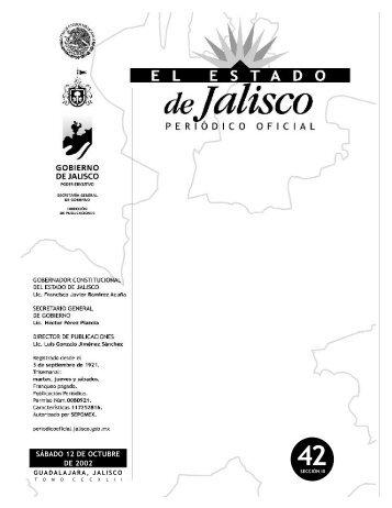 III - Periódico Oficial El Estado de Jalisco