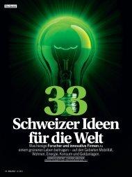33 Schweizer Ideen für die Welt - Globalance Bank
