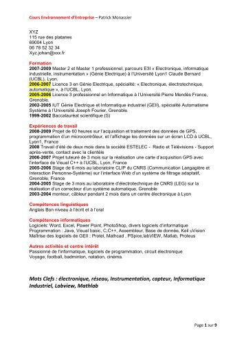 lettre de motivation cv pdf