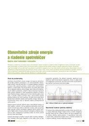 Obnoviteľné zdroje energie a riadenie spotrebičov - iDB Journal