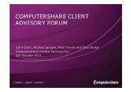 to view a copy of the presentation - Computershare