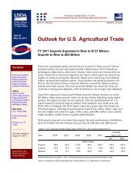 Outlook for U.S. Agricultural Trade - USDA Economics and Statistics ...