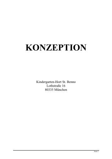 KONZEPTION - St. Benno