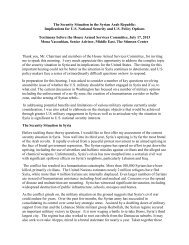 The Security Situation in the Syrian Arab Republic: Implications for ...