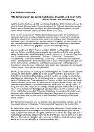 """Karl Friedrich Piorreck """"Modernisierung"""" der Justiz ... - Betrifft Justiz"""