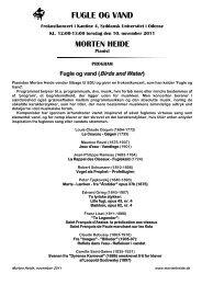 FUGLE OG VAND - The Aesthetics of Music and Sound