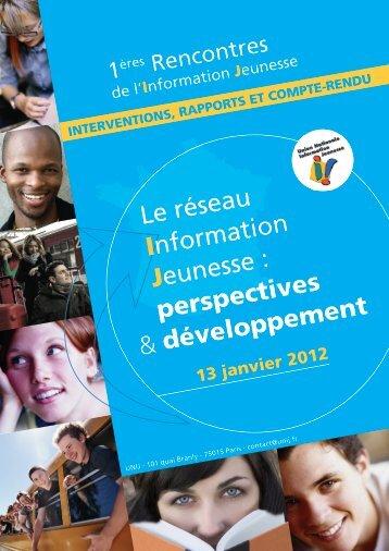 Rapport Rencontres UNIJ 13 janvier 2012.pdf - centre ressources ...