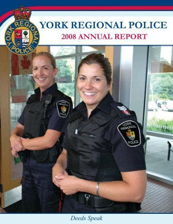 2008 Annual Report - York Regional Police