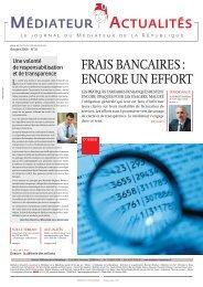 FRAIS BANCAIRES : ENCORE UN EFFORT