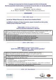 CEDE - Programme