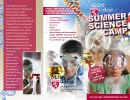 Science Summer Camp Brochure