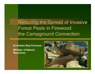 Reducing the Spread of Invasive Forest Pests in Firewood: the ...