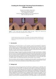 Creating the Virtual Self: Re-Using Facial Animation in Different ...