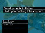 Urban hydrogen infrastructure development