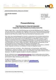 Pressemitteilung Chat-Sicherheit im Unterricht ... - Mediaculture online