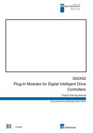DIAX02 Plug-In Modules for Digital Intelligent Drive Controllers