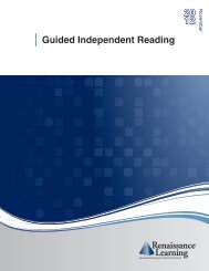 Guided Independent Reading Report - Renaissance Learning