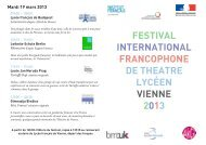 festival international francophone de theatre lycéen vienne 2013
