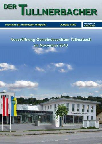 Neueröffnung Gemeindezentrum Tullnerbach im ... - VP Tullnerbach