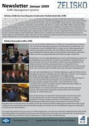 Newsletter Jänner 2009 - Zelisko