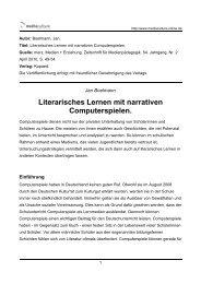 Literarisches Lernen mit narrativen ... - Mediaculture online