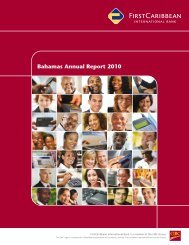 Bahamas Annual Report 2010 - FirstCaribbean International Bank