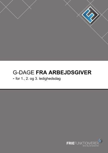 G-DAGE FRA ARBEJDSGIVER - Frie Funktionærer
