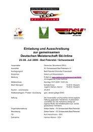 Einladung und Ausschreibung - SV Schwarzwald Bad Peterstal