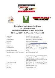 Einladung und Ausschreibung 2009 Bad Peterstal - SV ...