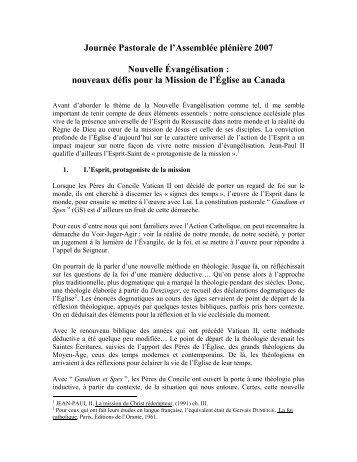 Cornwall 2007 - Conférence des évêques catholiques du Canada