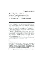 Skrivpedagogik i praktiken. Textkedjor, textsamtal och texttypologier ...