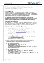 Arbeiten mit radioaktiven Stoffen und ... - Chempark