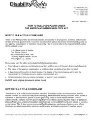 How to File a Complaint Under the Americans with Disabilities Act