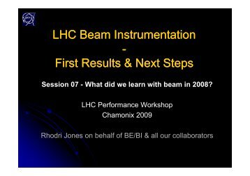 Session 07 - What did we learn with beam in 2008?