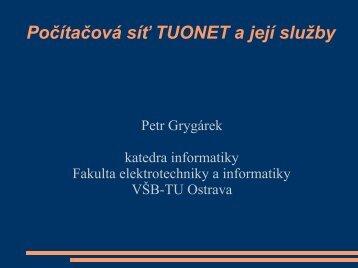 tuonet - Katedra informatiky FEI VÅB-TUO