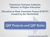 QIF Projects and QIF Roles - Tep.ps