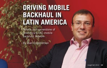 Driving Mobile Backhaul in Latin America - Tellabs