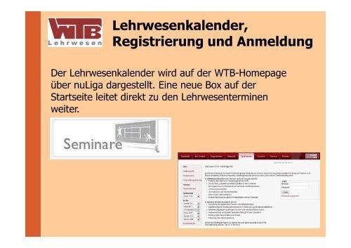 Erste Schritte mit NU-Seminar - WTB