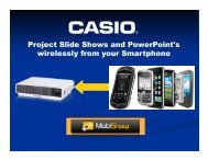 Download MobiShow™ setup guide here - Casio Projectors