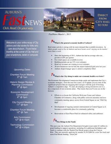 March 1, 2013 - City of Auburn