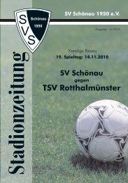 TSV Rotthalmünster - SV Schönau