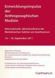 Entwicklungsimpulse der Anthroposophischen Medizin