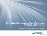 Download the presentation - Dataupia